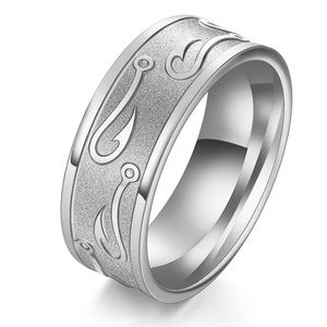 b3c6eb145205 Jewelry - Titanium Stainless Steel Band Ring Hook design